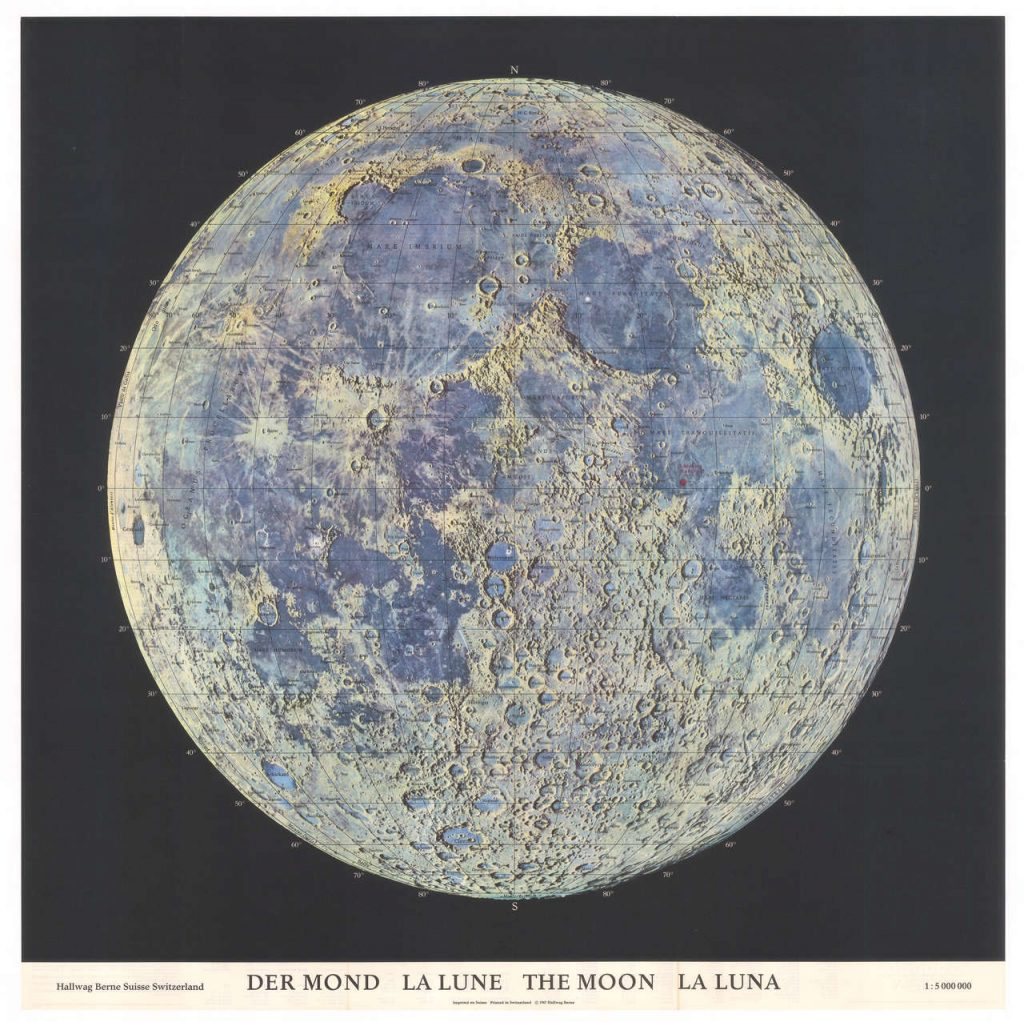 The Mapping of the Moon: 1669-1969